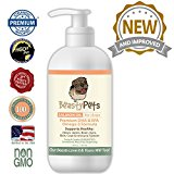 Salmon Oil for Dogs by Beasty Pets  Non GMO Omega 3 Fish Oil w/ EPA & DHA  Canine Coat, Joint, Heart & Eye Care Enriched w/ Non-Soy Vitamin E