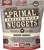 Primal Freeze-Dried Nuggets Dog Food, Venison Formula, 14 Ounce, 4 Pack