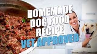 Homemade Dog Food Recipe Vet Approved (Limited Ingredient)